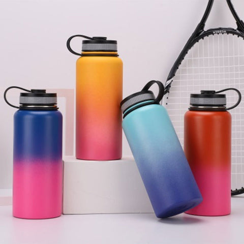 Hydro Flask Water Bottle 32oz/40oz Vacuum Insulated Stainless Steel Wide Mouth With Logo Outdoors Stainless Steel Thermos Cup