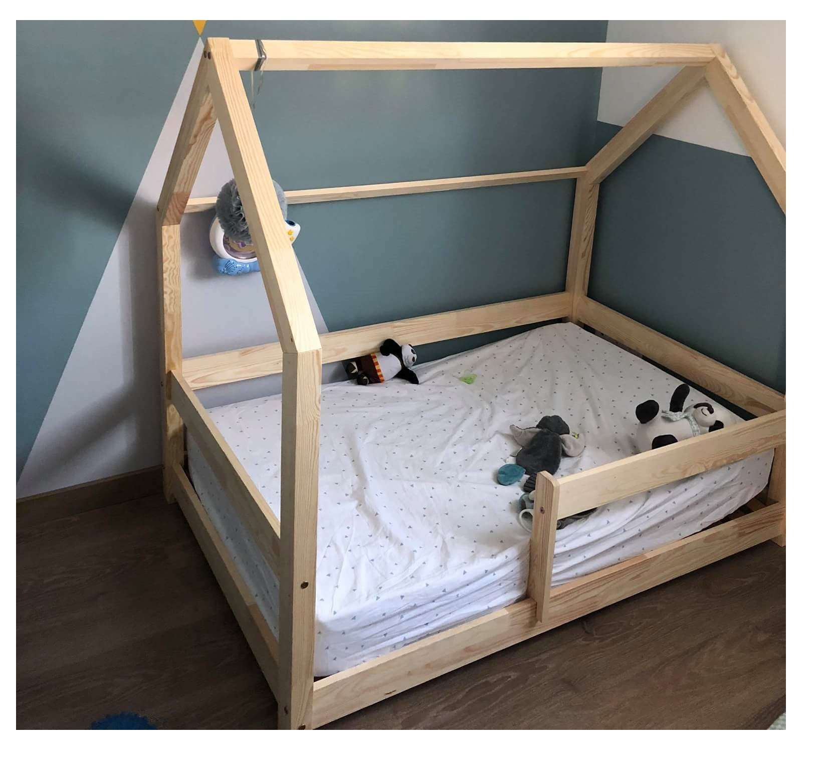 Lit Au Sol Montessori montessori milo natural hut bed - with or without barriers