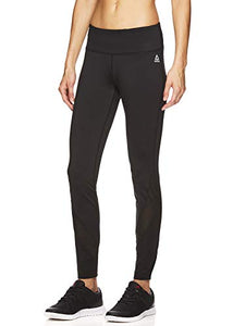 Reebok Women's Legging Full Length Performance Compression Pants - Stealth Black, X-Small