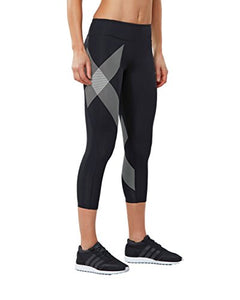 2XU Women's 7/8 Mid-Rise Compression Tights, Women's Fitness Apparel, Women's Gym Clothes