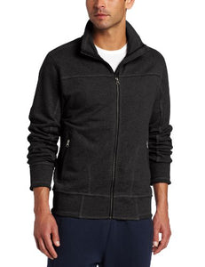 Alo Yoga Men's Casual Track Jacket, Charcoal Heather, XX-Large
