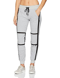 Blanc Noir Women's French Terry Jogger with Mesh