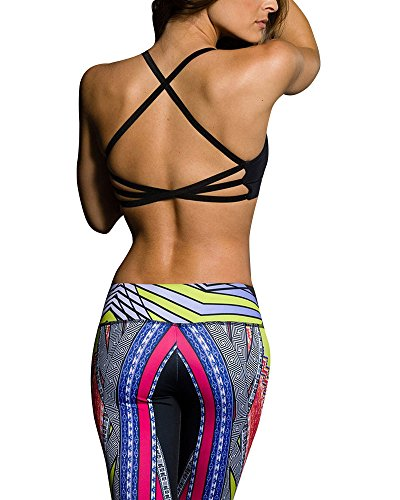 Onzie Hot Yoga X Back Elastic Bra Top
