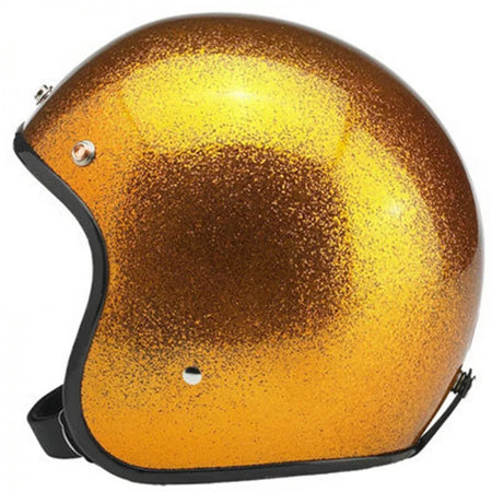Casque Jet Metal Flake Jaune