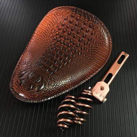 Selle Solo Crocodile Cuir Marron