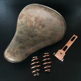 Selle solo Old School Leather (No.1) + kit ressorts