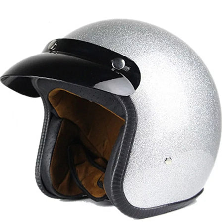 Casque Jet Metal Flake Gris