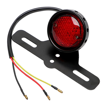 Feux stop Led Rond + support de plaque Classic'Ride