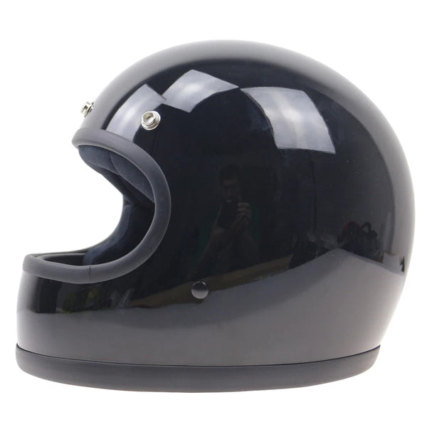 Casque Retro'Racer Trophy 70 s NOIR BRILLANT