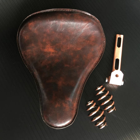 Selle solo Old School Leather (No.2) + kit ressorts