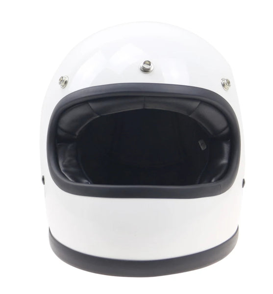 Casque Retro'Racer Trophy 70 s BLANC