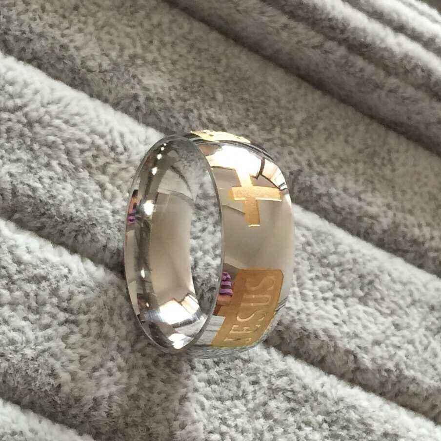 Titanium Steel Christian Ring