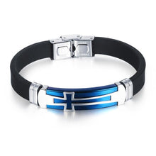 Load image into Gallery viewer, Cross Silicone Bracelet