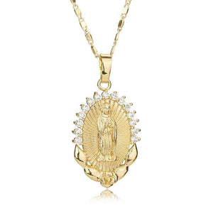Christian Virgin Mary Necklace