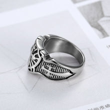 Load image into Gallery viewer, Stainless Steel Cross Ring