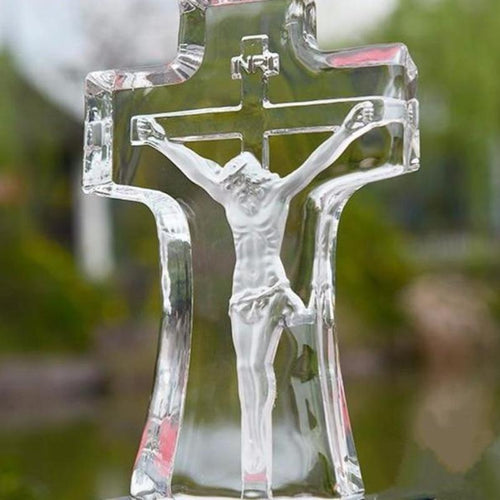 Crystal Glass Christian Figurine
