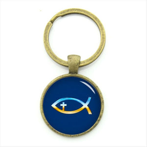 Christian Fish Keychain