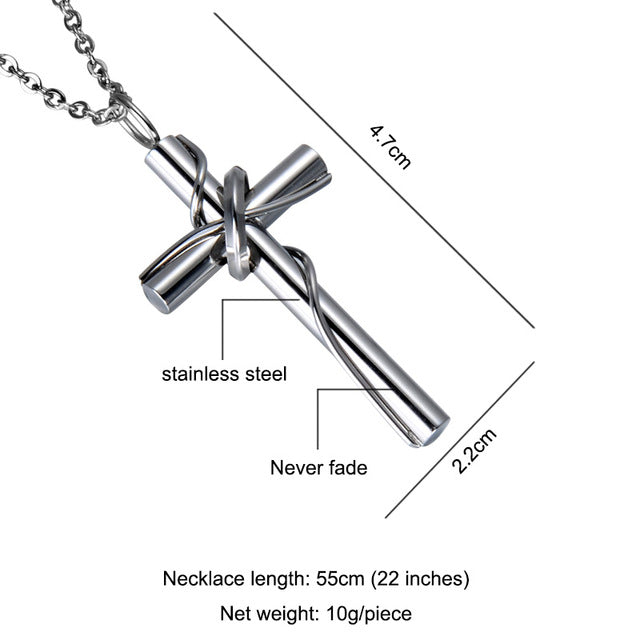 Circle Cross Pendant Necklace