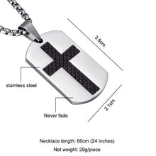 Load image into Gallery viewer, Steel Cross Necklace