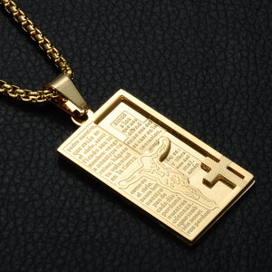 Bible Cross Pendant Necklace
