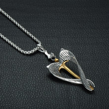 Load image into Gallery viewer, Angel Wing Cross Necklace