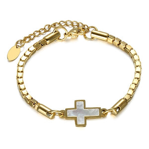 Religious Chain Cross Bracelet