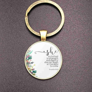 Christian Bible Keychain Holder
