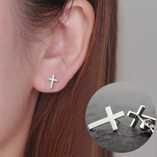 Simple Cross Earrings