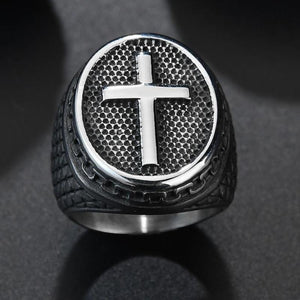 Vintage Rock Christian Ring