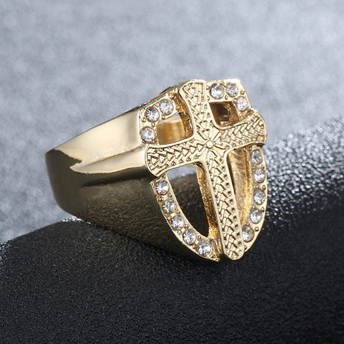Crystal Cross Finger Ring