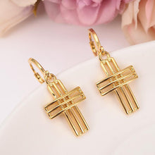 Load image into Gallery viewer, Cross Charm Earrings