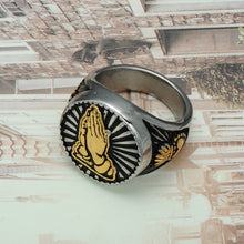 Load image into Gallery viewer, Religious Prayer Hand Ring