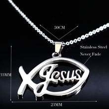 Load image into Gallery viewer, Stainless Steel Jesus Necklace
