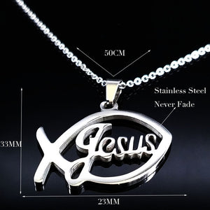 Stainless Steel Jesus Necklace
