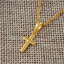 Load image into Gallery viewer, Mini Cross Pendant Necklace