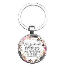 Load image into Gallery viewer, Bible Quote Keychain