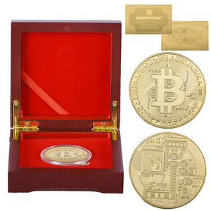 Bitcoin Coin with Quality Wooden Box Collection