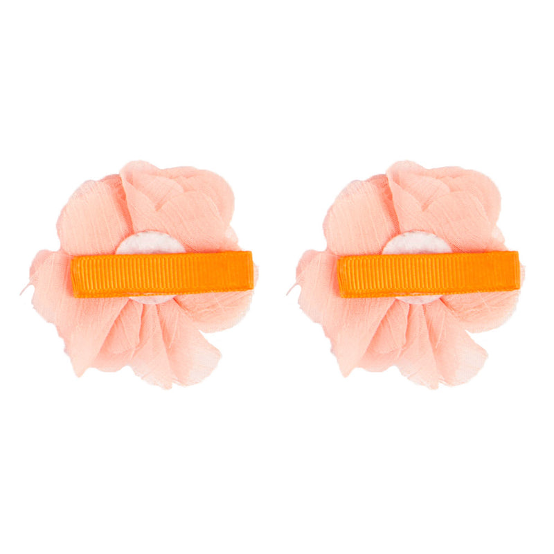 2x HAIR CLIPS | APRICOT