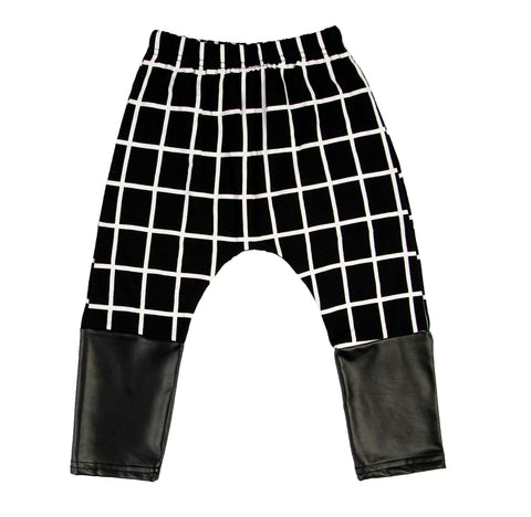 KIDS PANTS | BLACK WHITE STRIPE