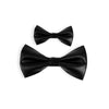 FATHER + SON MATCHING BOW TIES | FAUX LEATHER
