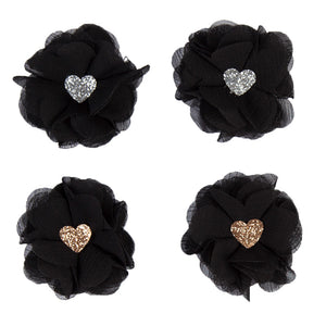 2x HAIR CLIPS | BLACK