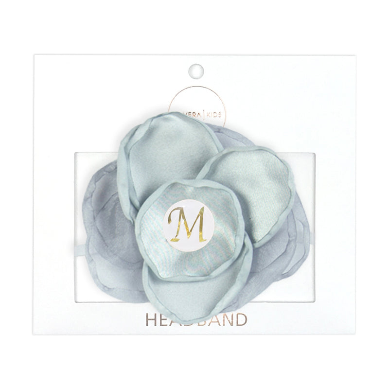 PERSONALISED (LETTER) GIRLS HEADBAND - GREY