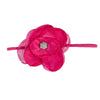 GIRLS LARGE FLOWER HEADBAND | HOT PINK