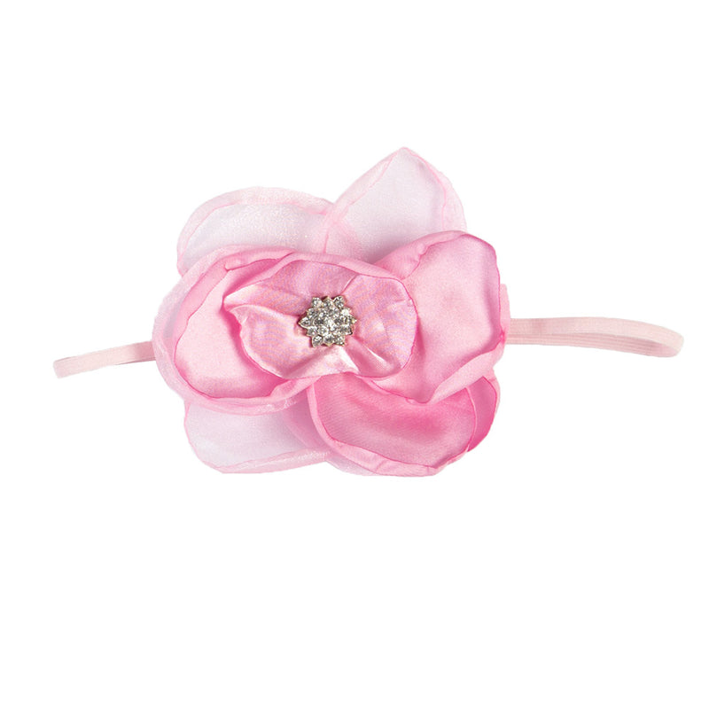 GIRLS LARGE FLOWER HEADBAND | PINK