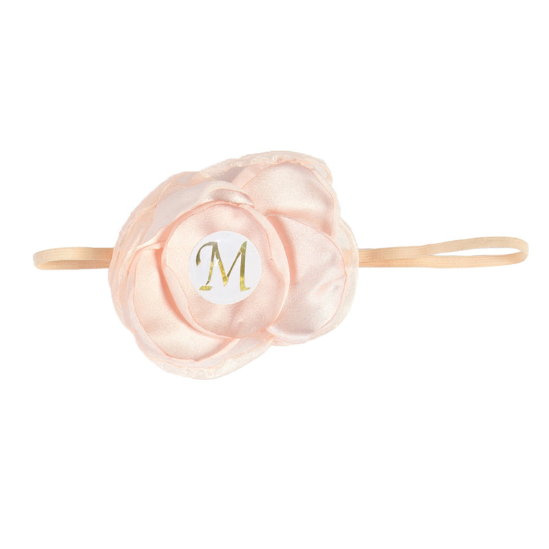 PERSONALISED (LETTER) GIRLS HEADBAND - APRICOT