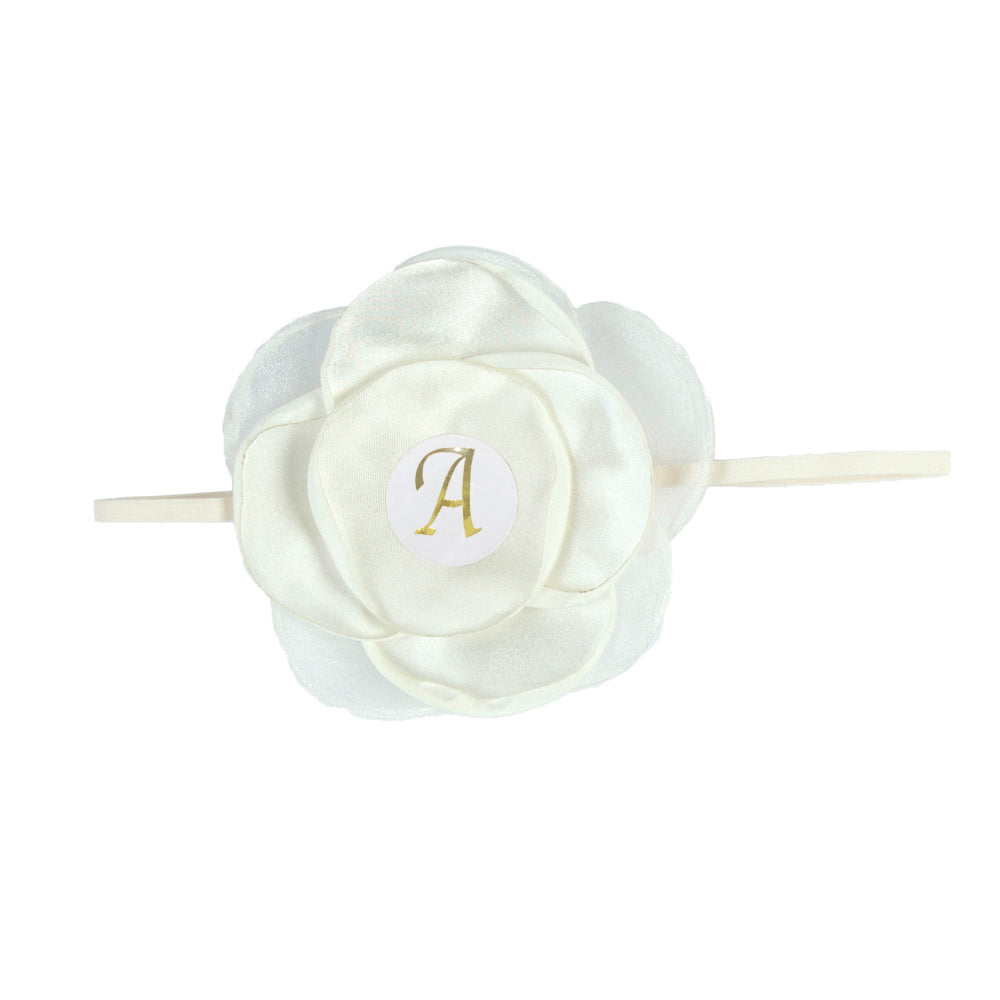 PERSONALISED (LETTER) GIRLS HEADBAND - IVORY