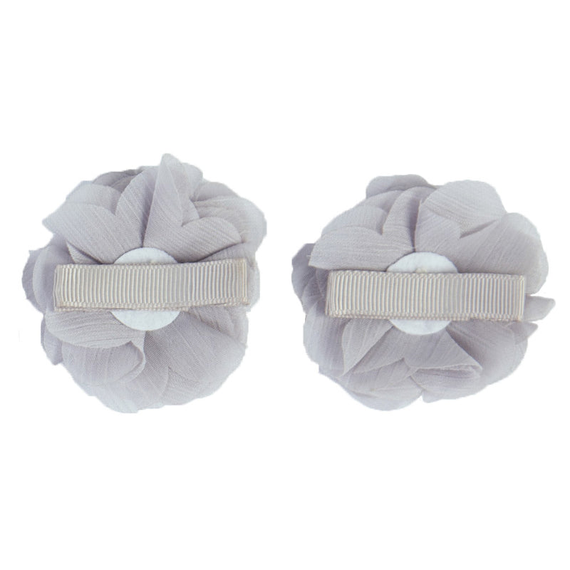 2x HAIR CLIPS PERSONALISED (LETTER) - GREY
