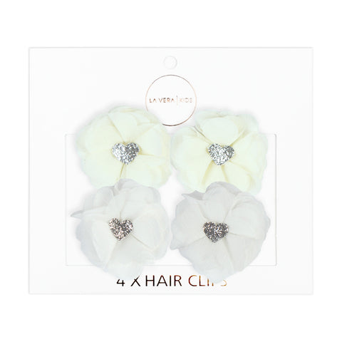 4x HAIR CLIPS | WHITE + BLACK