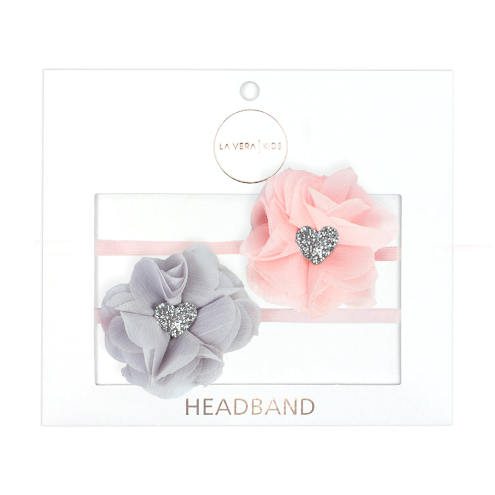 2x HEADBANDS | PINK + GREY