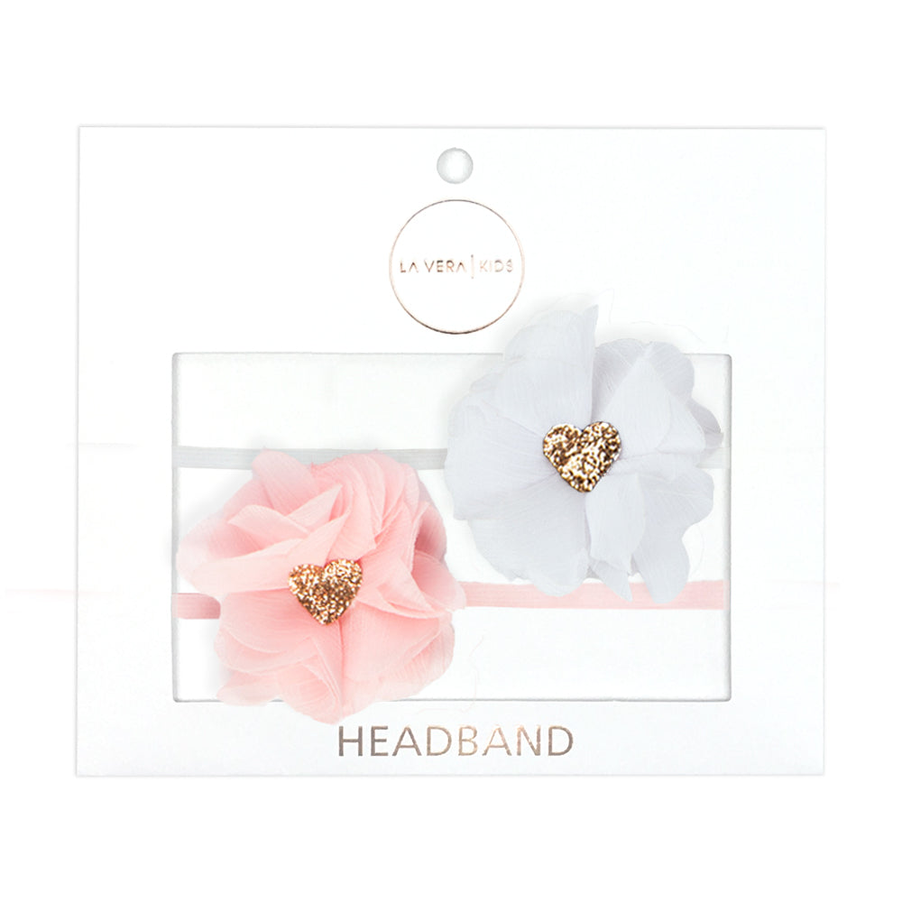 2x HEADBANDS | WHITE + PINK